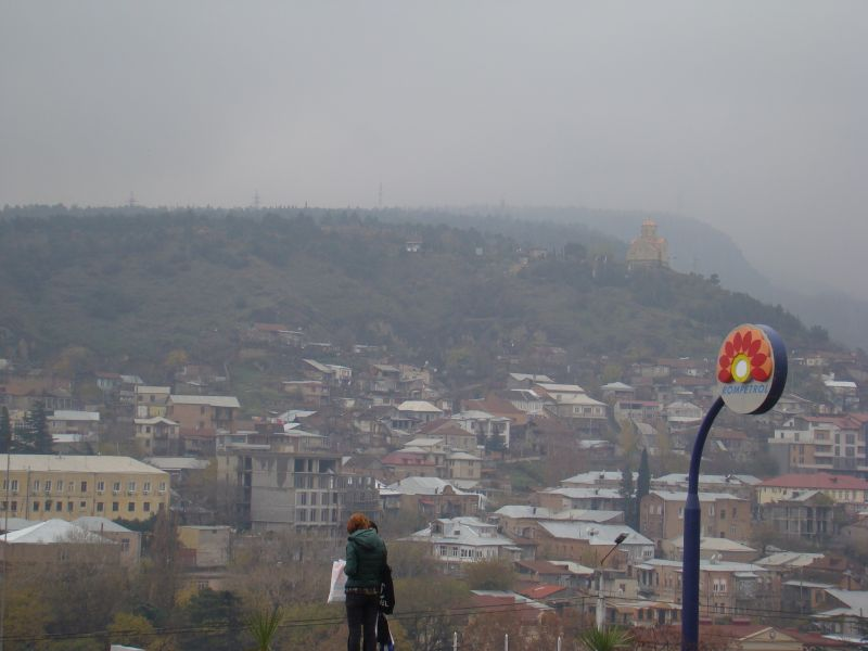 View to Tbilisi city from Hotel Sheraton Metekhi