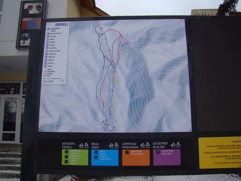 Didveli ski map