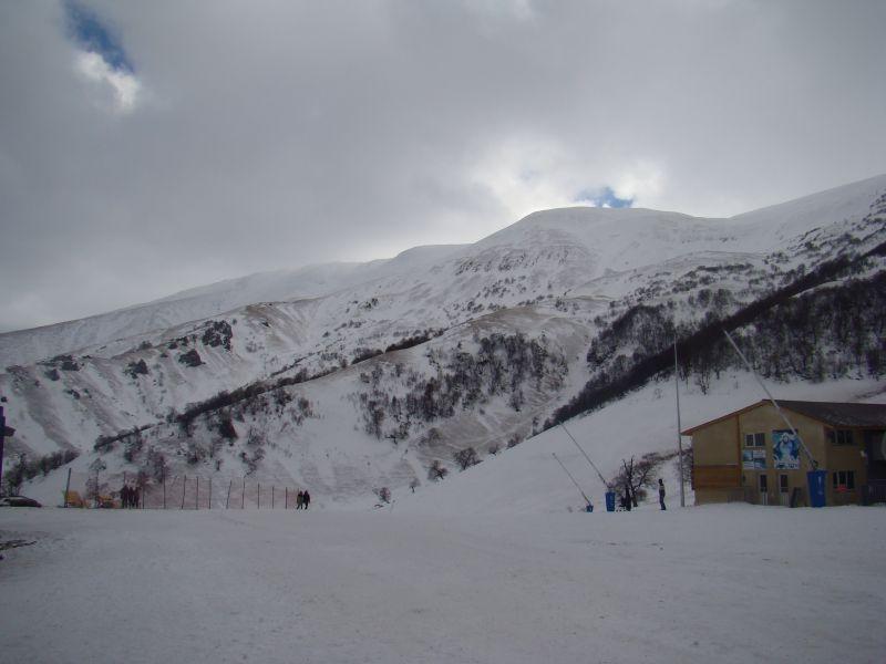 View to mountains at Bakuriani