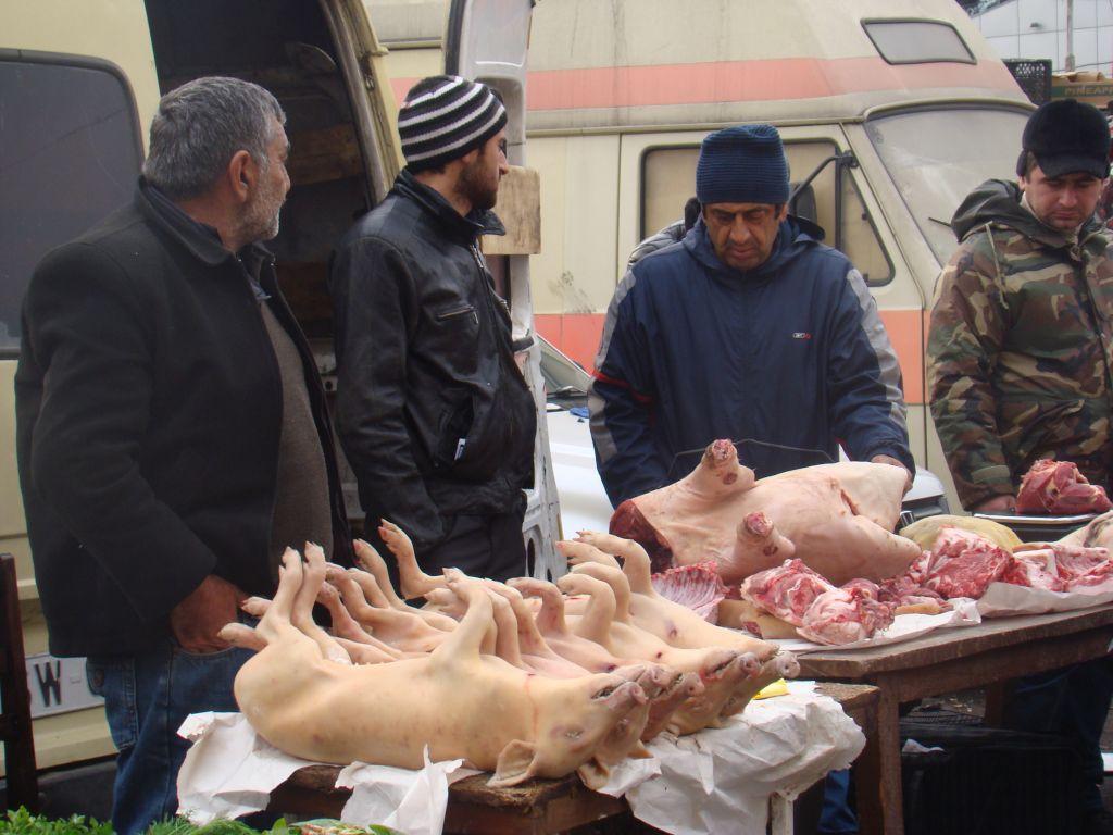 Piglet for sale at Tbilisi Market