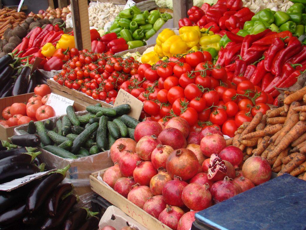 Vegetables at Tbilisi market
