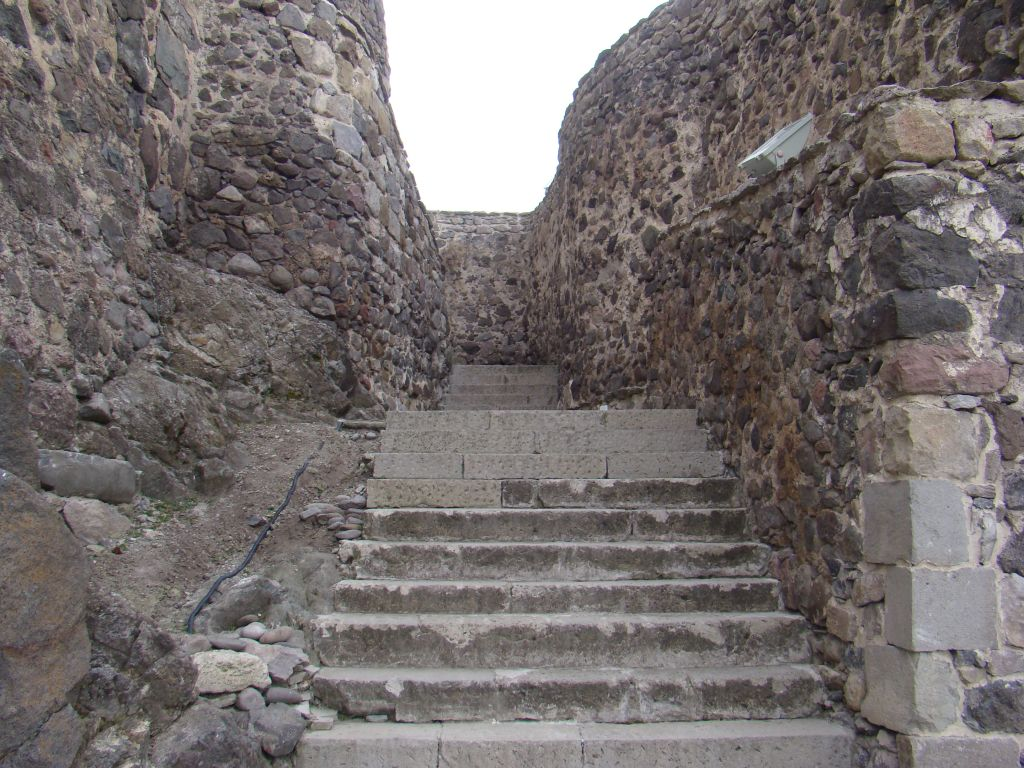 Stairways up to the convent building