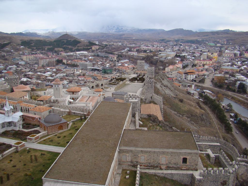 View to Rabati complex from flag tower