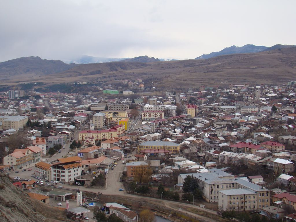 View to Akhaltsikhe town from flag tower