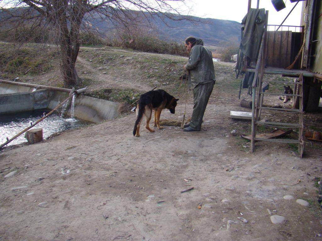Vasiliy preparing to catch a fish