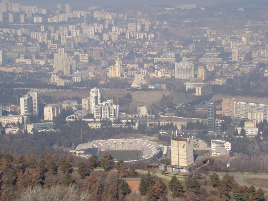 View to Tbilisi from hiking trail