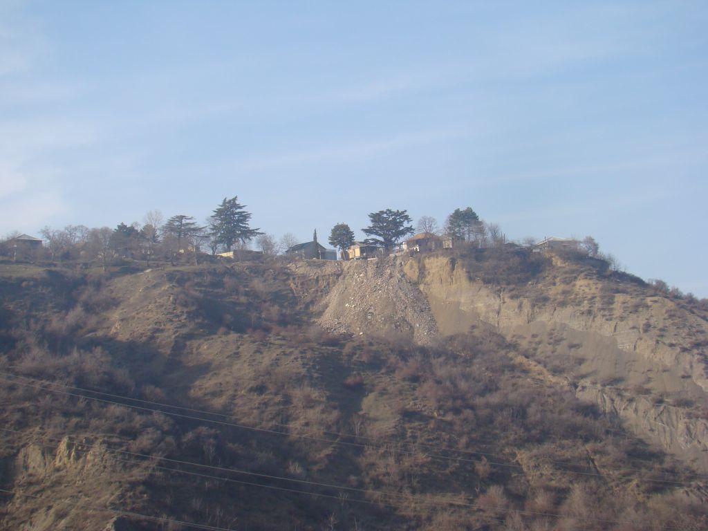Dwelling houses on top of a mountain near Tskneti