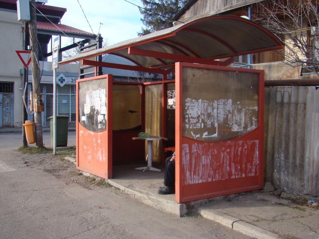 Bus stop at Tskneti