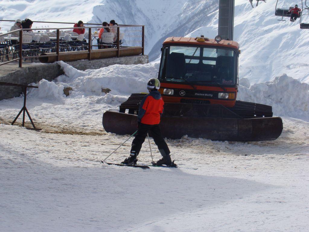 At Gudauri skiing resort