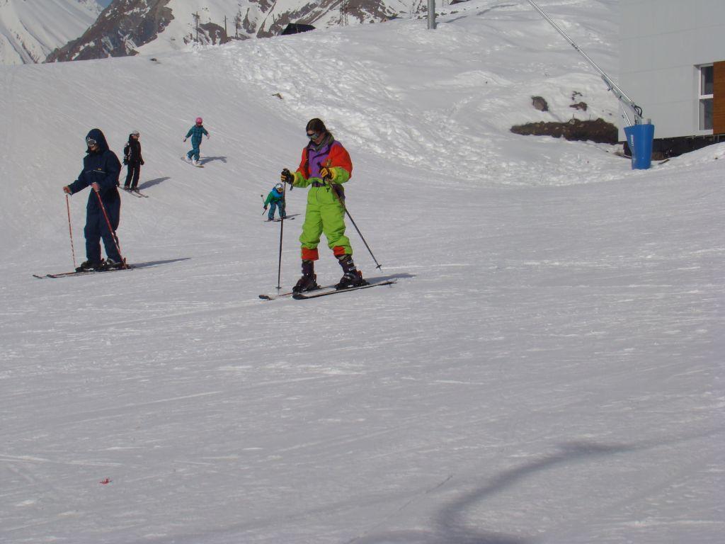 Skiers at Gudauri