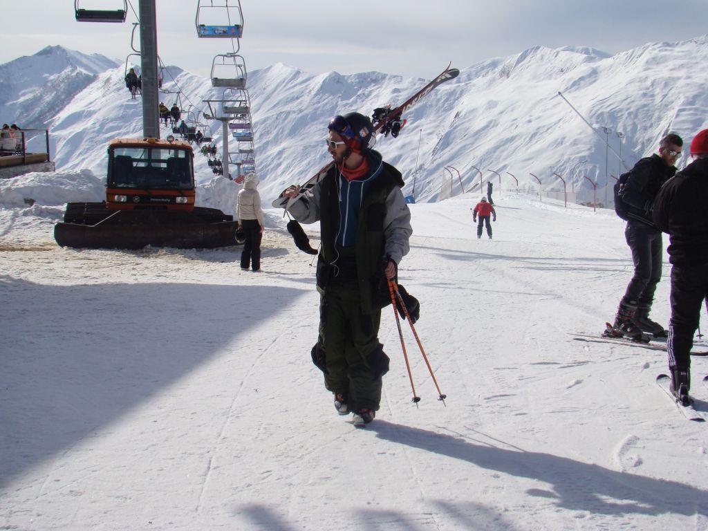 Skier at Gudauri winter resort