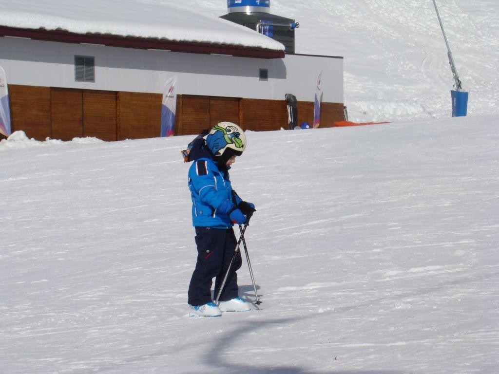 Little skier at Gudauri