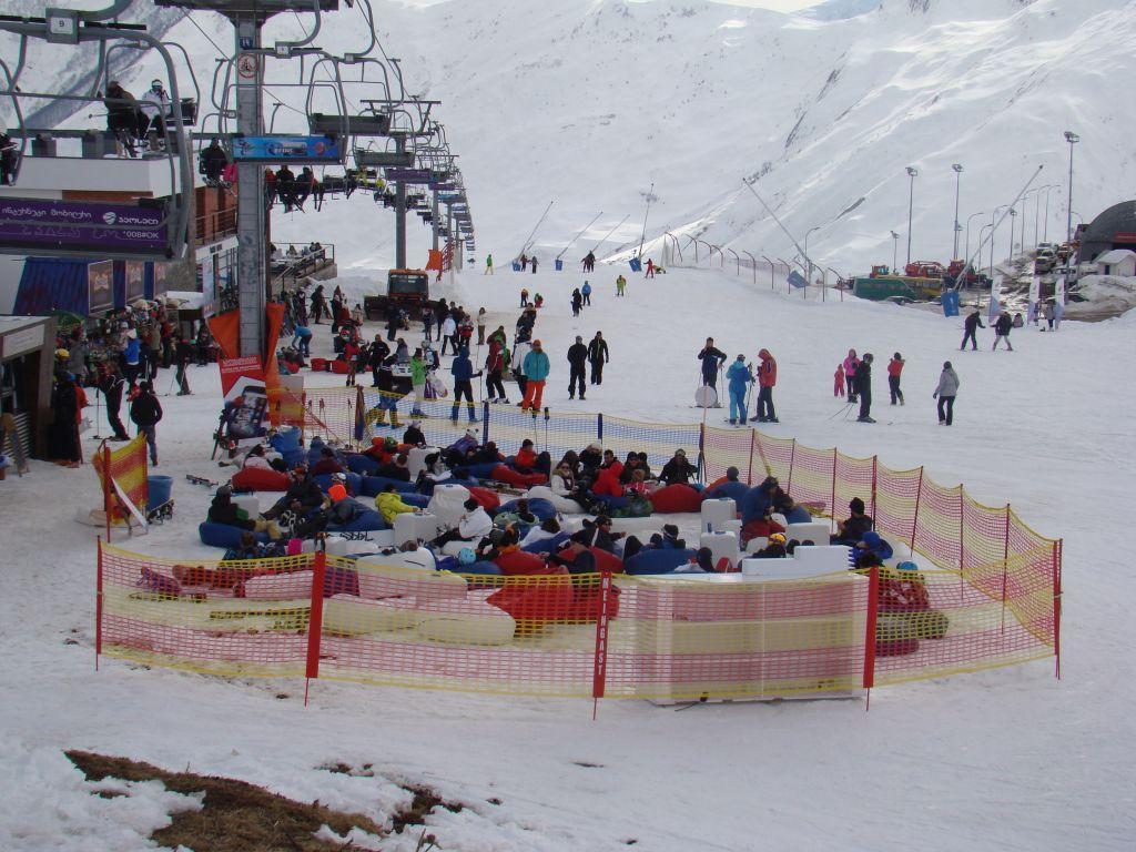 Rest area at Gudauri skiing slopes