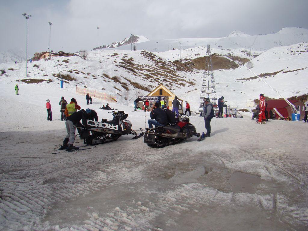 Snow bikes at Gudauri