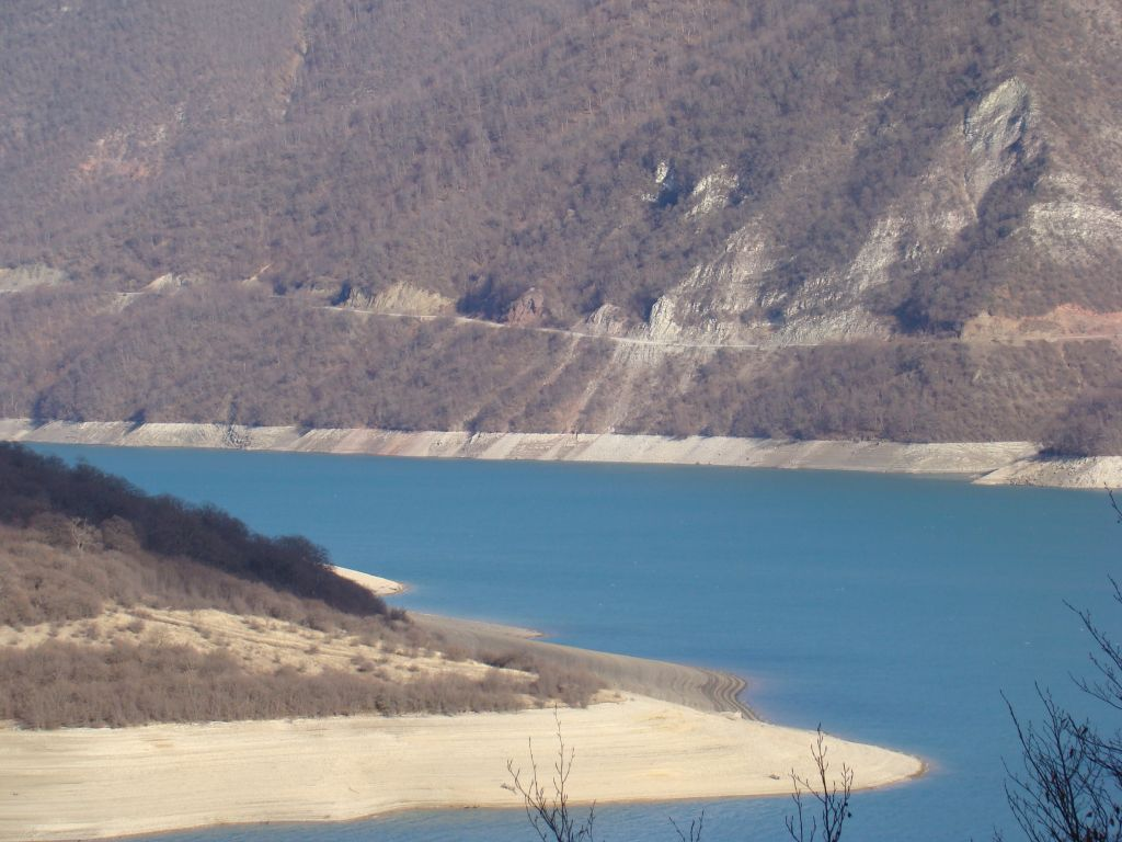 Water reservoir close to Ananuri castle complex