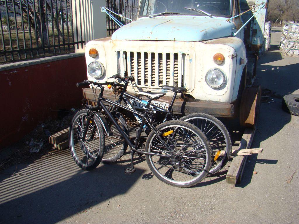 Parking a bike