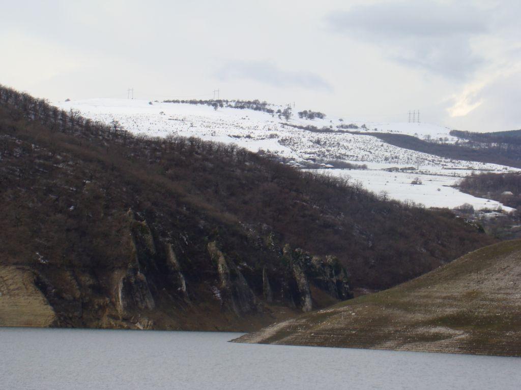 Scenic view to Algeti Reservoir