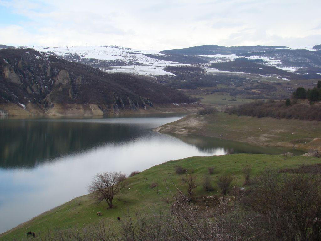 Algeti reservoir in Georgia