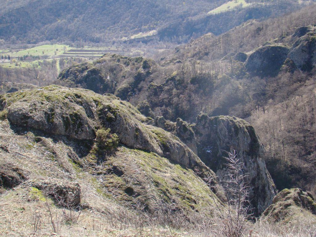 Rocks at the Birtvisi Canyon