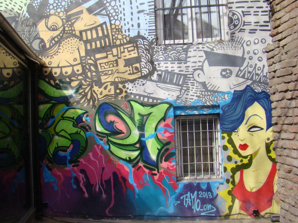 Graffiti on Factory 27 Restaurant Wall