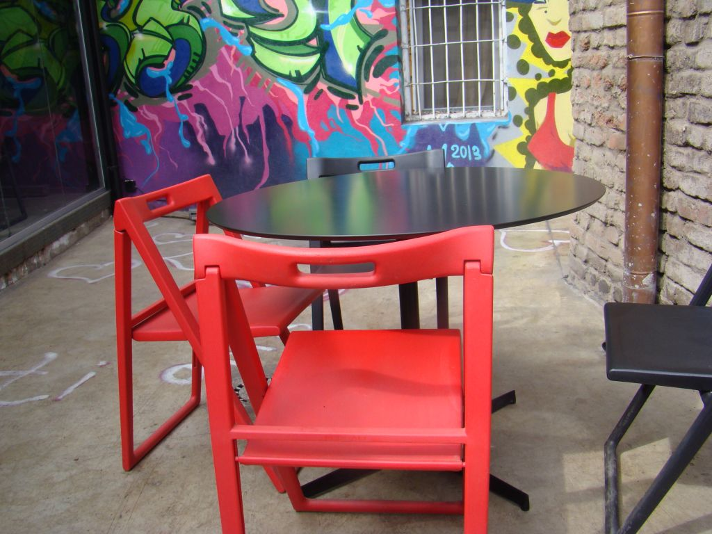 Colourful chairs at Factory 27