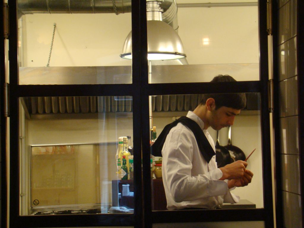 A chef in work