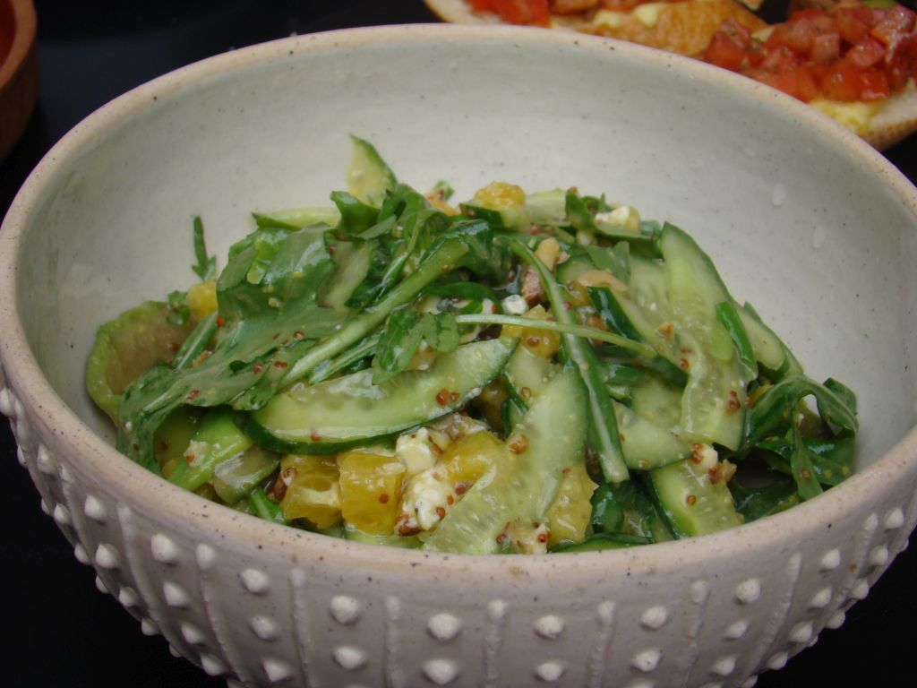 Avocado salads with blue cheese