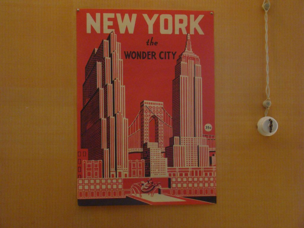 New York Poster at Factory 27 restaurant