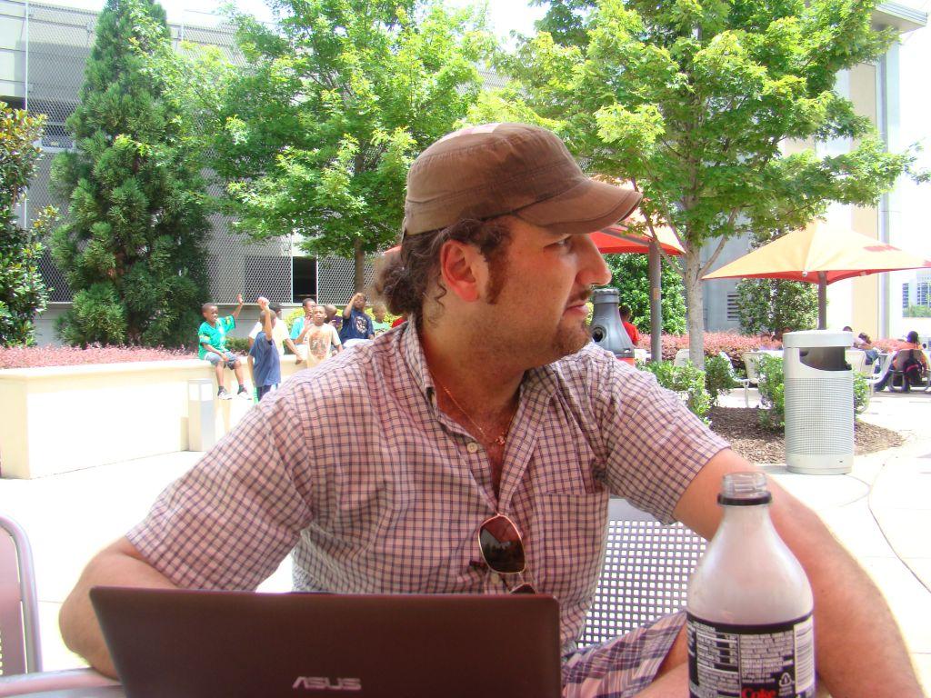 Author of this blog captured at Coca Cola museum in Atlanta