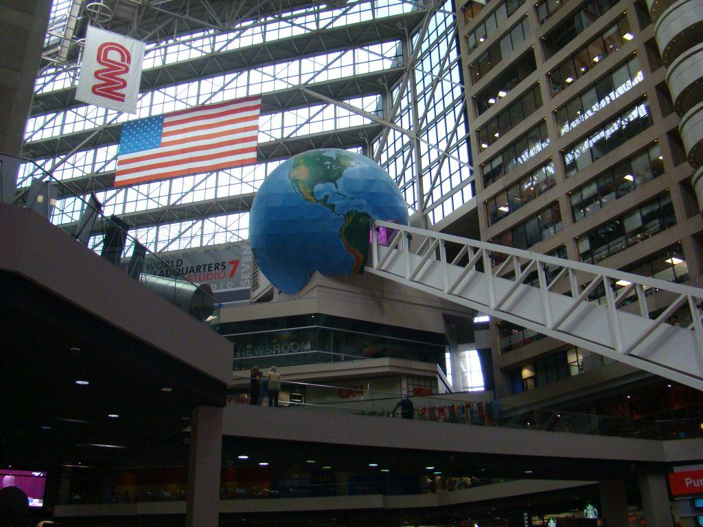 Inside CNN Studio: World Globe