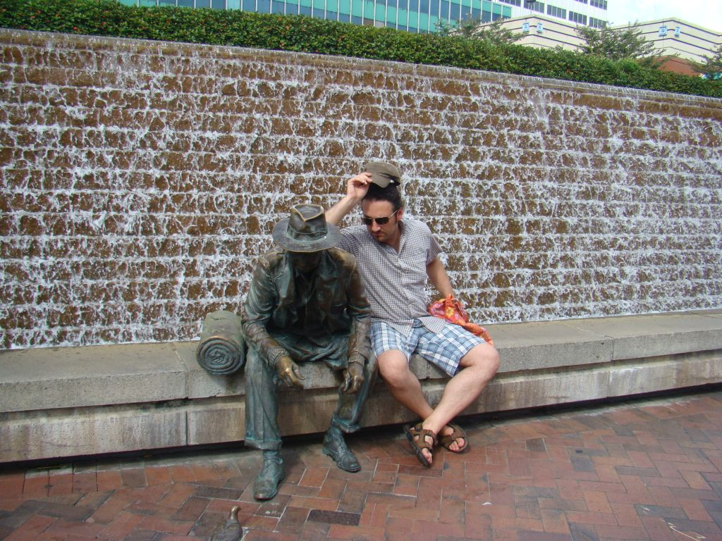 Author of this blog captured at Rest in Downtown Atlanta