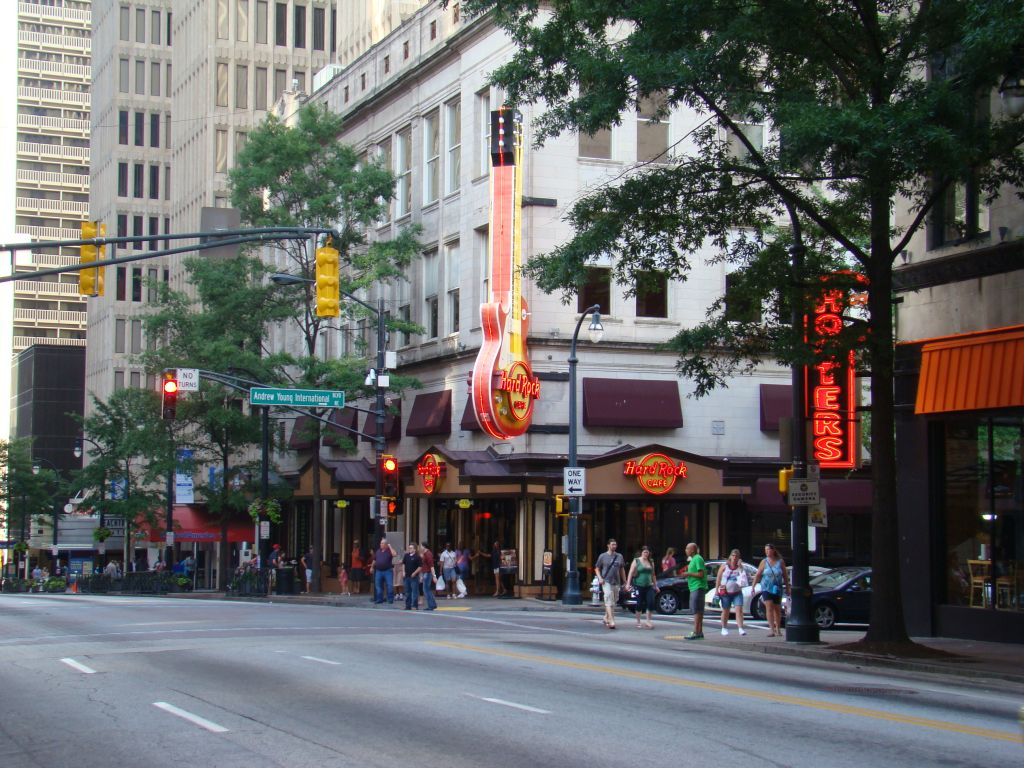 Hard Rock Cafe in Downtown Atlanta