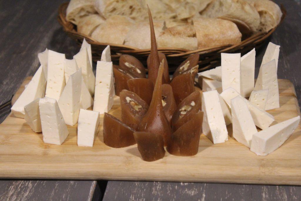 Georgian cheese and churchela