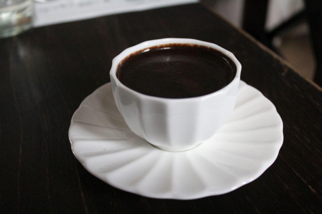 Turkish coffee at Chashnagiri Natakhtari restaurant