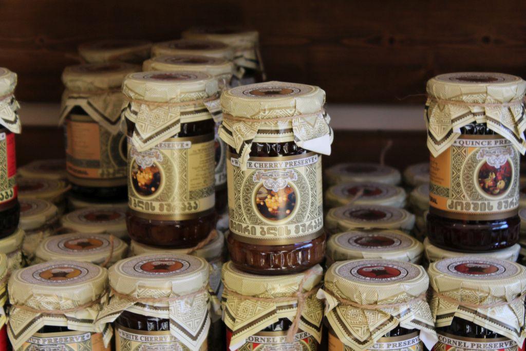 Georgian jam at Aristeus shop