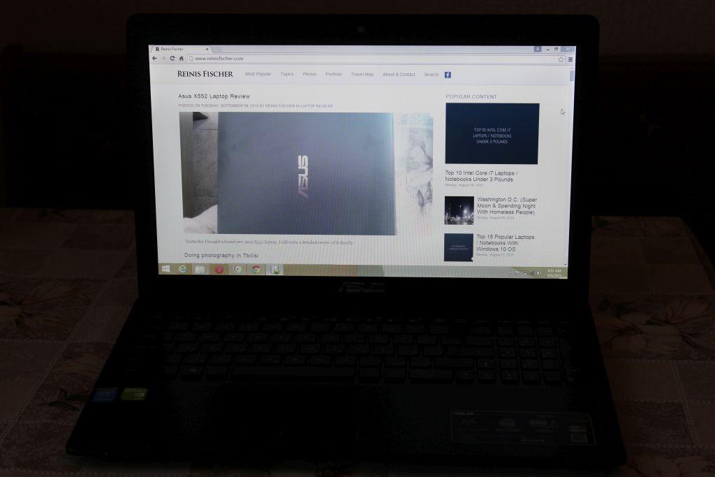 Browsing the web using ASUS X552M