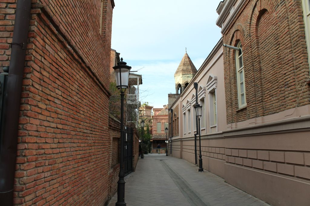 A lovely and narrow street in Old Tbilisi (Ioane Shavteli street)