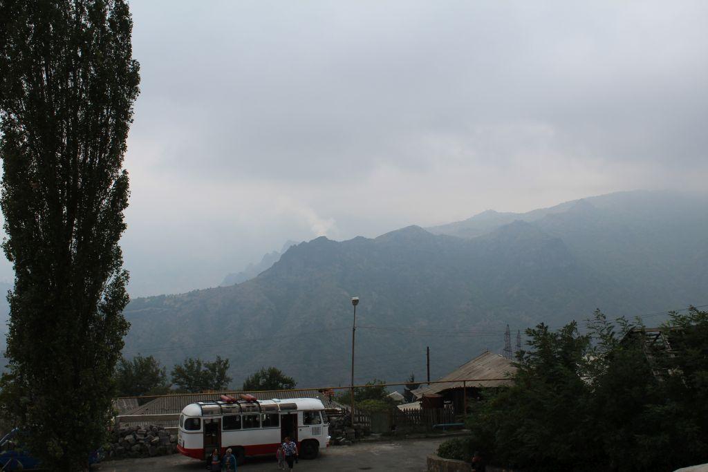 Local Armenian bus near Haghpat monastery