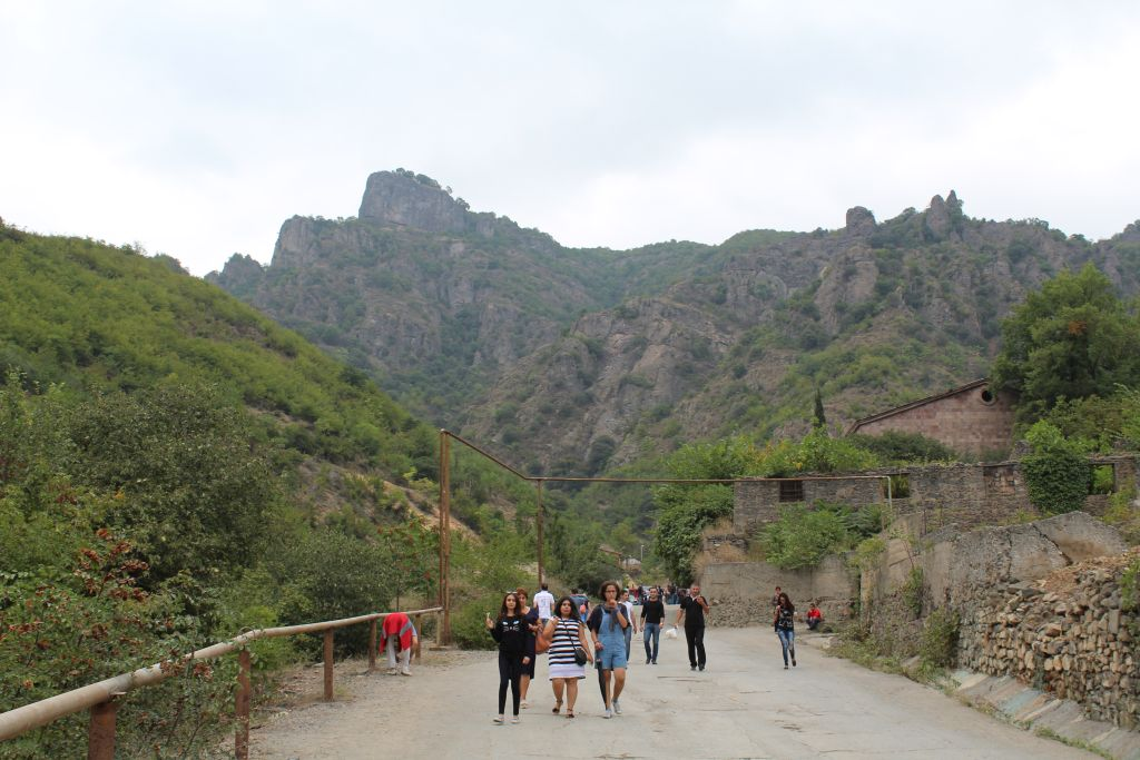 Uphill road leading to monastery complex