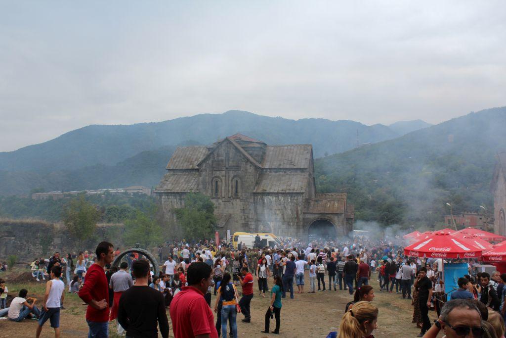 Barbecue festival held at Akhtala monastery