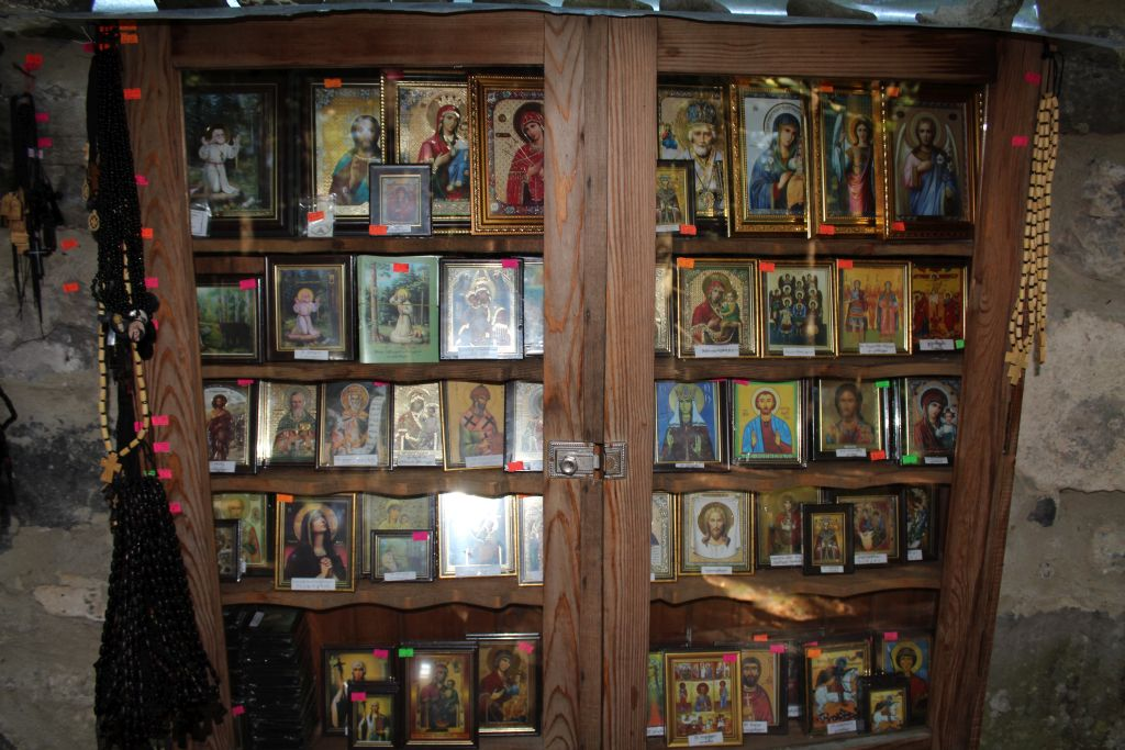 Church icons and candles for sale