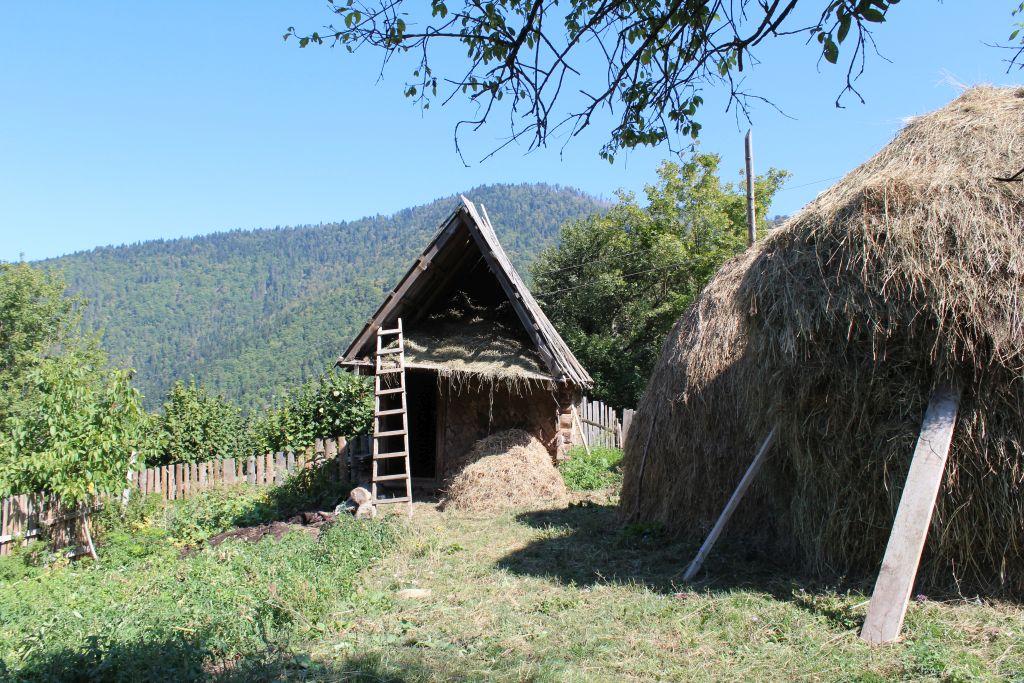 Haystack and a barn