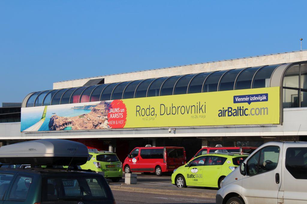 Airbaltic banner at Riga Airport