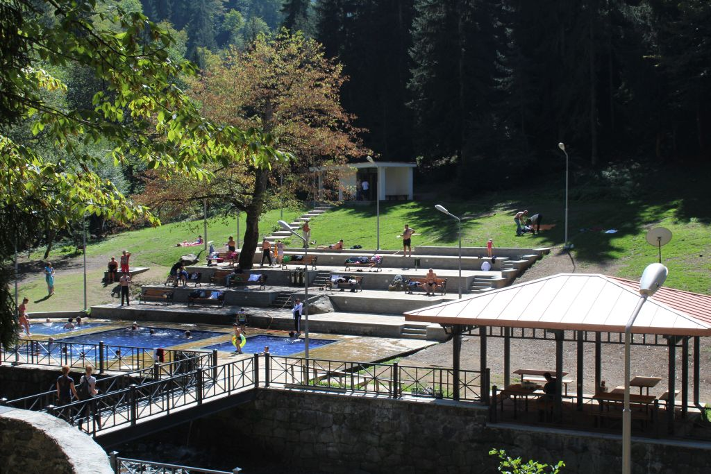 Open sulphur pools in Borjomi