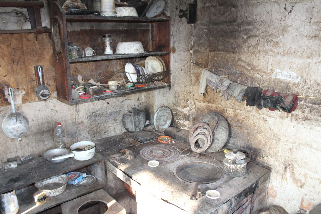 Kitchen and a furnace