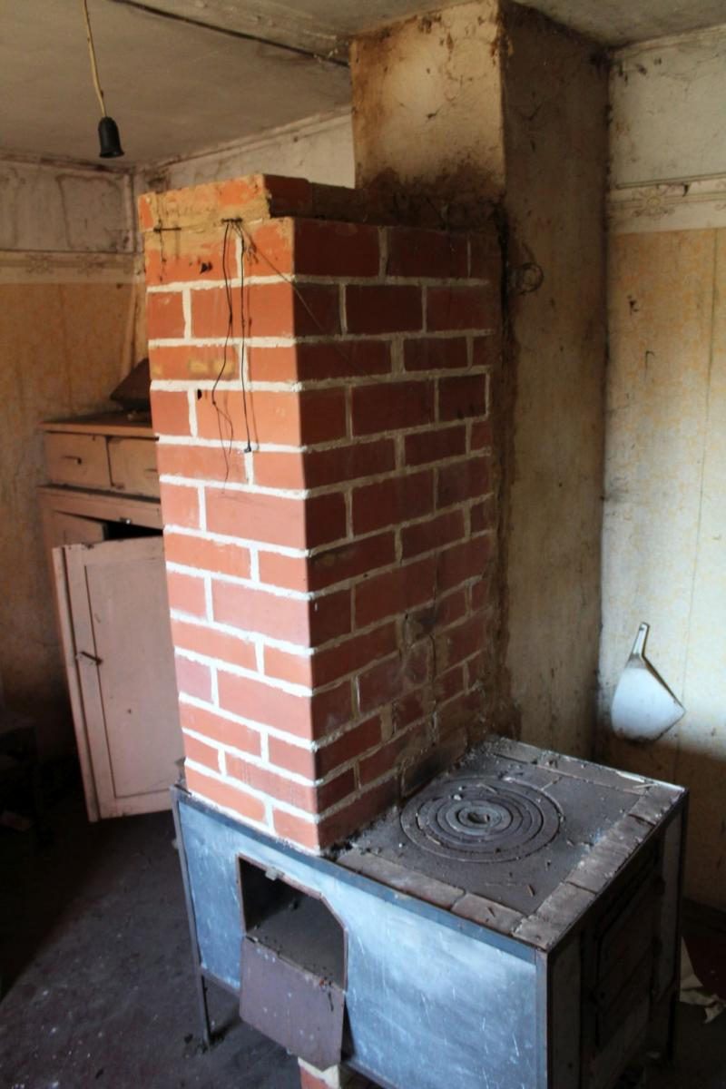 A small stove in the second floor's room