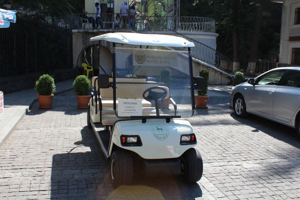 Golf cart for lazy ones