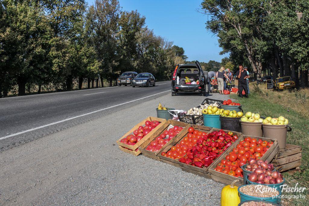 Fresh vegetable market near Gori highway