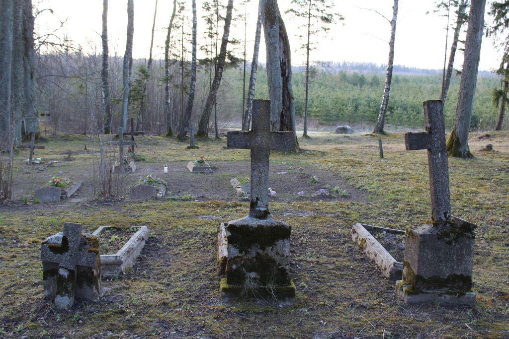 Grave crosses at Bakuzi cemetery