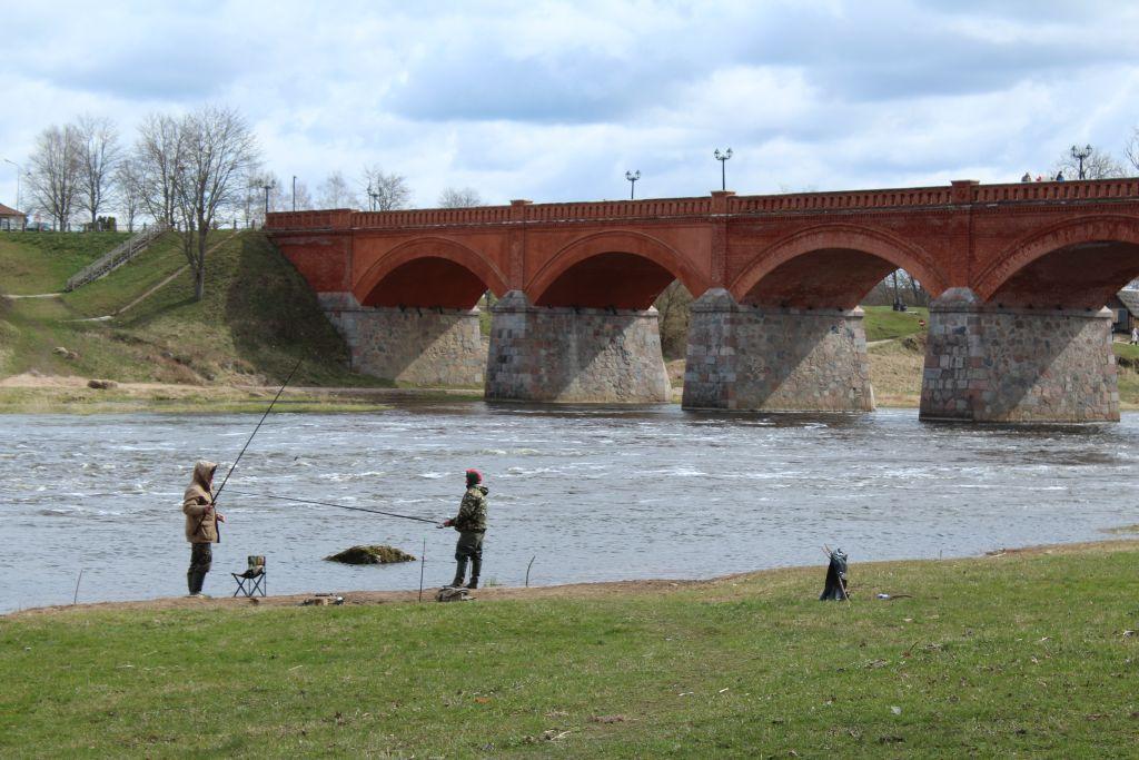 Brick bridge over Venta river in Kuldīga